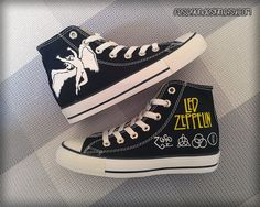 Led Zeppelin Custom Converse / Painted Shoes by FeslegenDesign (I'll buy these eventually)