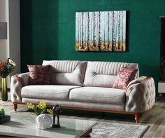 Canapea Extensibila 3 locuri Zenit Grey K1 #homedecor #inspiration #interiordesign #sofa #livingroom #colors Love Seat, Couch, Living Room, Interior Design, Inspiration, Interiors, Furniture, Home Decor, Products