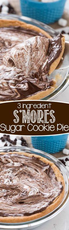 S'mores Sugar Cookie Pie