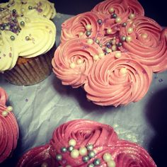 Jeweled rosette cupcakes for a bridal shower