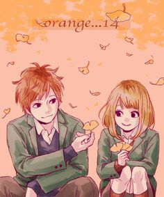 Orange : damnit! Why couldn't Suwa have a happy lovely ending with a girl? Suwa was such a great friend. I would love/hate to have a friend that would sacrifice there own happiness just to make you happy. He's such a great character