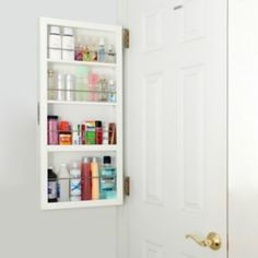 Perfect behind the door storage...except I have a window there...