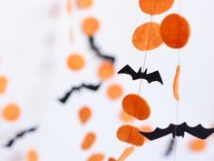 Add a bit of colorful flair to your mantle or doorway with this bat garland.