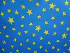 Waterproof Fabric Stars Blue per Yard WM by landofoh on Etsy, $8.00--lining for diaper bag?