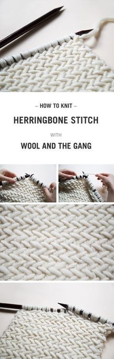 free tutorial on how to knit the herringbone stitch. Video included A free tutorial on how to knit the herringbone stitch. -A free tutorial on how to knit the herringbone stitch. Knitting Stitches, Free Knitting, Knitting Patterns, Crochet Patterns, Knitting Needles, Knitting Humor, Beginner Knitting, Afghan Patterns, Yarn Projects