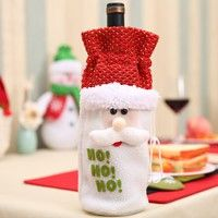 Adaptable 1pcs Table Decorations Wine Bottle Cover Ornament Wedding Table Decorations Novelty Decoration Snowman Santa Clause Lovel Dust Covers