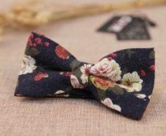 Men's Cotton Bowties - Vintage Floral Prints