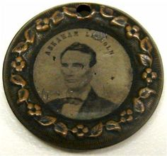 Abraham Lincoln & Hannibal Hamlin Superb 1860 Campaign Token Two-Sided Ferrotype Abraham Lincoln Family, Mary Todd Lincoln, American Civil War, American History, Photo Buttons, Black Presidents, Mr President, Lincoln Memorial