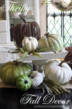 Thrifty Fall Decor...you won't believe what these pieces looked like before!