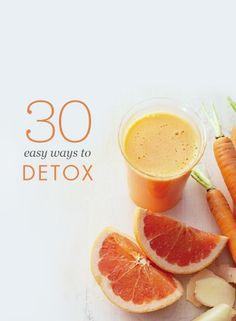 30 easy ways to detox