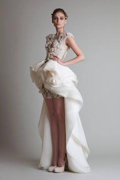 "Krikor Jabotian - Couture - ""Closure"", F/W for that unique, modern but traditional bride. maybe reception dress? Style Couture, Couture Fashion, Fashion Show, Fashion Design, Arab Fashion, Runway Fashion, High Fashion, Sporty Fashion, Mod Fashion"