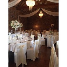 The Refectory at abbey dressed for an elegant wedding reception Drapes by Oakwood. Elegant Wedding, Wedding Reception, Canopy Lights, Table Decorations, Instagram Posts, Flowers, Beautiful, Home Decor, Marriage Reception