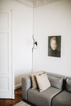 The apartment of Selina Lauck, contemporary apartment design, cozy minimalist interior design, scandinavian interior design Berlin Apartment, Minimalism Interior, Living Room Interior, Decor, Home, Interior, Interior Furniture, European Home Decor, Home Decor