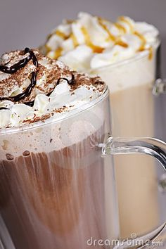 Hot Chocolate And Coffee Beverages... I know not technically a punch, but could be used for one around the holidays!