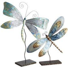 Capiz Dragonflies on Stands