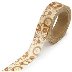 """Washi Tape Roll .625""""X315"""" Steampunk (082676325335) DARICE-Washi Tape. Spice up your photo borders; scrapbook pages; homemade cards; and more with this washi tape. Available in a variety of designs (each sold separately). This package contains one 315 inch roll of 5/8 inch wide tape. Imported."""