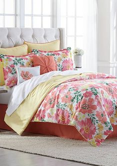 Beautiful Bedding Super Soft Comfort Floral 6 pcs Sheet Set Pink Yellow Floral