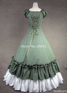 Custom Made Green and White Sweetheart Cotton Prom Gothic Victorian Dresses Costume Free Shipping-in Dresses from Women's Clothing & Accessories on Aliexpress.com   Alibaba Group