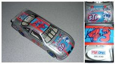 Bobby Hamilton & Rich Petty Signed NASCAR #43 Diecast Car PSA COA . $175.00. NASCAR DriversRichard Petty and Bobby HamiltonHand Signed 1:24 Diecast #43 STP 25 Anniversary Car, with box.  . GREAT AUTHENTICRICHARD PETTY BOBBY HAMILTON NASCAR COLLECTIBLE!! AUTOGRAPH AUTHENTICATED BY PSA/DNA WITH NUMBERED PSA/DNA AUTHENTICATION STICKER ON ITEM AND MATCHING NUMBERED PSA/DNA CERTIFICATE OF AUTHENTICITY (COA) INCLUDED. PSA/DNA COA #G81698.