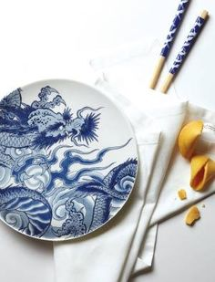 Dinnerware designed by famed Sunset Strip Tattoo artist Paul Timman - Irezumi Collection from @Ink Dish Dinnerware - inspired by iconic Japanese imagery - Super cool