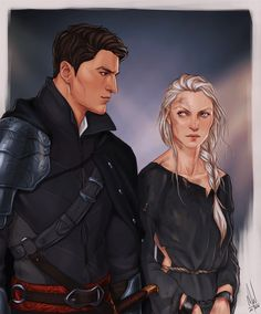 Hell, I´m no fan of Celaena/Aelin, but this is stunning. Chaol and Celaena meet in Endovier by Merwild
