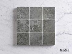 RUSTIC PORCELAIN MEDIUM GREY 292X292 Sheet Sizes, Mosaics, Tile Floor, Porcelain, Rustic, Texture, Medium, Grey, Crafts