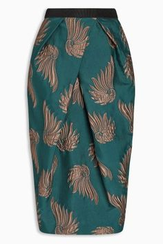 Buy Green Jacquard Tulip Skirt from the Next UK online shop