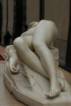 sublime sculpted flesh: La Jeune Tarentine (sculpted 1840-75!) by German-French sculptor Alexandre Schoenewerk (1820 Feb18-1885Jul23; d@65) (photo by GuessWhoAndWhere.typepad.fr 2006-12-17)• now at Musée d'Orsay • http://en.wikipedia.org/wiki/Pierre_Alexandre_SchoenewerkPicasa Web Albums -
