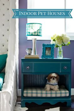 Ideas to design indoor pet houses. http://homedecordesigns.com/pet-houses/