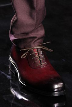 Salvatore Ferragamo Tobacco Red Lace Ups