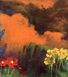 Flowers and Clouds. Emil Nolde