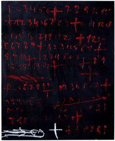 Antoni Tápies - Xifres vermelles / Red Figures