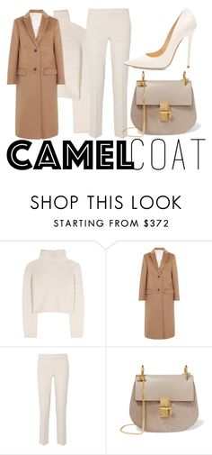 """""""camel coat #1"""" by icy-blonde ❤ liked on Polyvore featuring The Row, Valentino, MaxMara, Chloé, Jimmy Choo, jimmychoo, TheRow, chloe and valentine"""