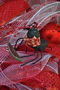 Ant Wreath Summer Wreath Deco Mesh Wreath by RedWithEnvyDesigns, $90.00