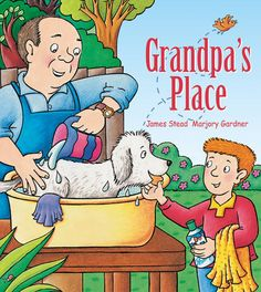 'Grandpa's Place' - A #ChildrensBook #written by #JamesStead and #illustration by #MarjoryGardner, Join Josh and his #grandpa as they enjoy a wonderfully busy #day #together.  Find out more about about this #book or #purchase it via the link - http://www.windyhollowbooks.com.au/products/grandpa-s-place