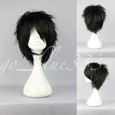 TT 526 Short Layered Loveless Black Anime Cosplay Wig | eBay