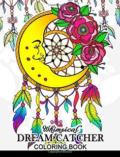 Whimsical Dream Catcher Coloring Book Art Design For Rel