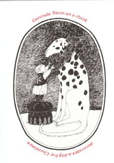 Untitled by Edward Gorey:  when all else fails to get you in the Christmas spirit....just decorate the dog!