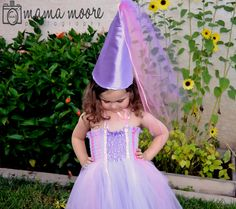 Purple princess costume. Tutu dress with hat by CassidyChristy, $45.00
