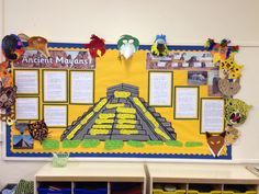 Mayan civilisation display What we already know, what we want to find out and some diary entries from the point of view of Stephens and Catherwood Class Displays, School Displays, Classroom Displays, History Activities, Teaching History, Literacy Display, Mayan History, Early Explorers, Maya Civilization