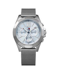 Tommy Hilfiger Horloge Chelsea staal grijs 42 mm TH1781846 . Een mooi en  klassiek dameshorloge met een trendy look uitgevoerd met een horlogeband  van staal ... 2848ed64adf