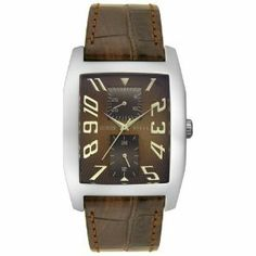 #Guess 85746g Brown Leather Watch   watch #2dayslook #new #style  www.2dayslook.com
