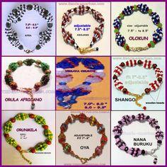 Santeria Yoruba Mazo IDDE bracelet  for Orishas by tiendaAmerican, $11.99
