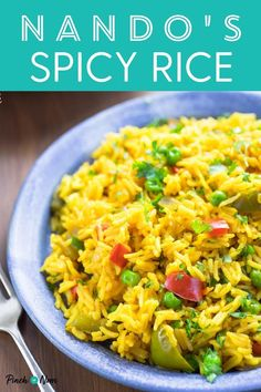 Nando's Spicy Rice - Pinch Of Nom - If you love rice, then our slimming-friendly Nando's Spicy Rice will be a big hit whether you'r - Savoury Rice Recipe, Spicy Rice Recipe, Savory Rice, Side Dish Recipes, Rice Recipes, Healthy Recipes, Healthy Dinners, Healthy Foods, Dinner Recipes