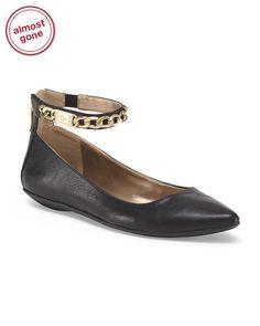Chain Ankle Strap Flat BCBG TJ MAXX.com