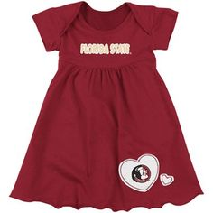 Florida State Seminoles (FSU) Infant Girls Superfan Dress - Garnet