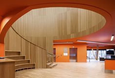 Junckers solid Oak in Nordic finish at Canada Water Library - CZWG Architects
