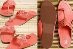 Coral kolhapuri leather chappals VC