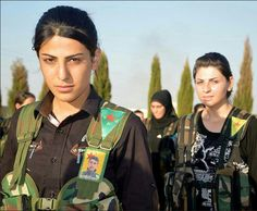 Images of the female Kurdish fighters battling ISIS | Several hundred women fight in an Independent Women's Battalion known as the YPJ, fighting for the Kurdish Peshmerga militia. 10 July 2014.