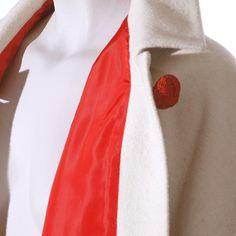 Capa vintage de lana en color marfil de Style France